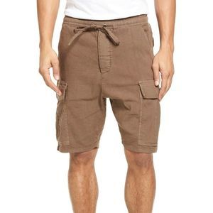 Vince Drop-Rise Military Drawstring Cargo Shorts